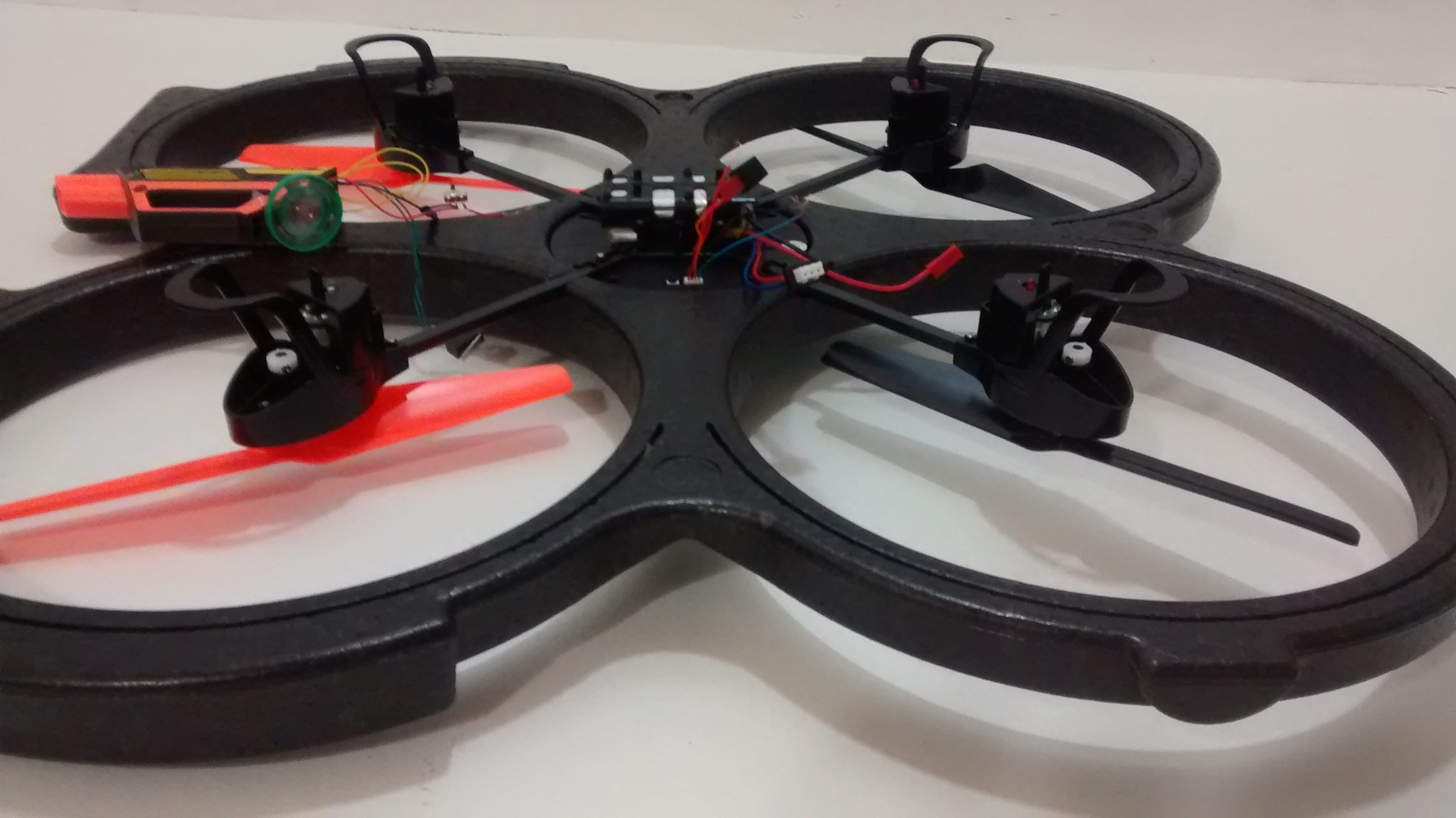 Picture of Mounting the Components on the Drone or Quadcopter