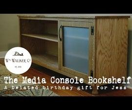 Media Console Bookshelf