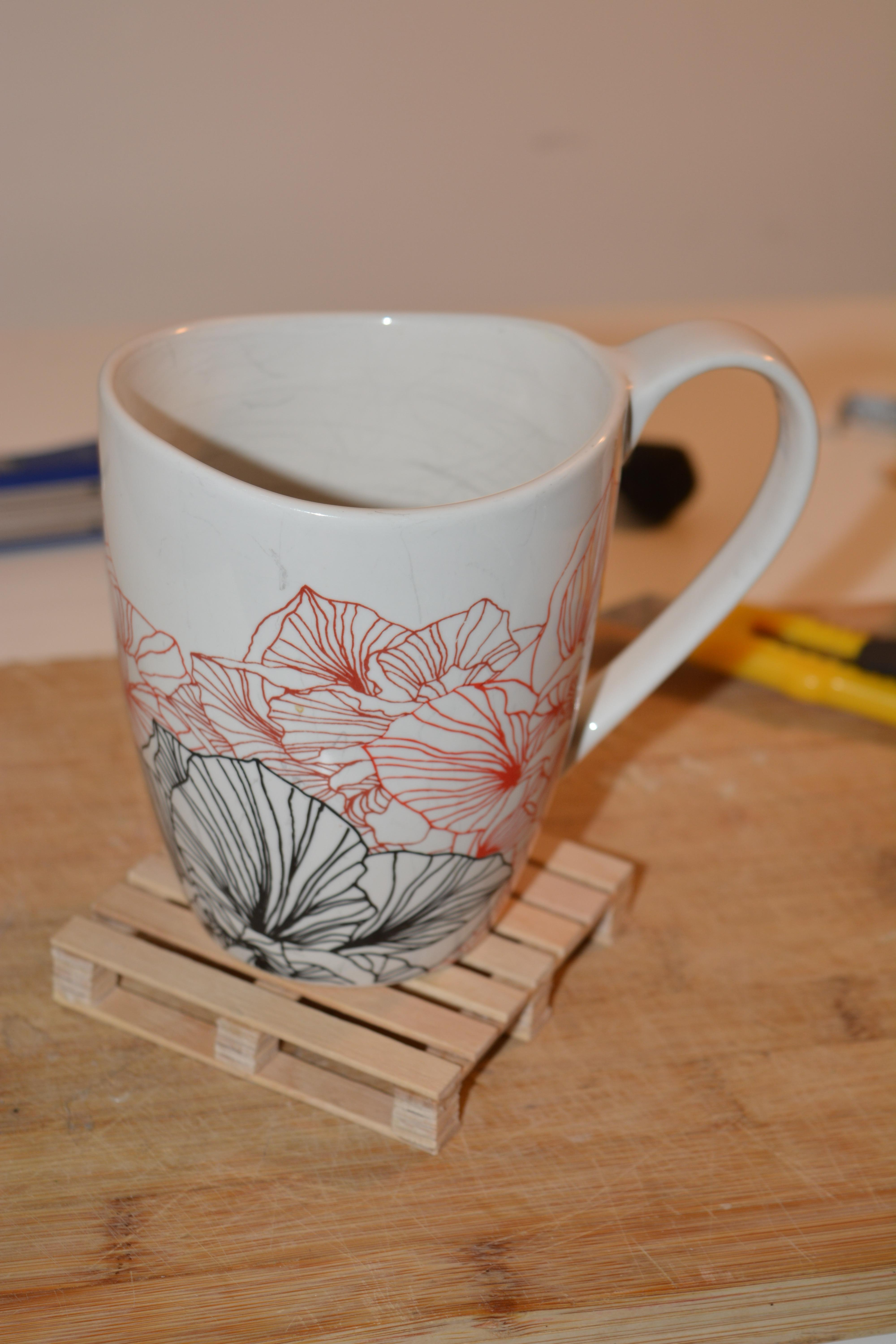 Picture of Pallet Style Drink Coaster Using Popsicle Sticks