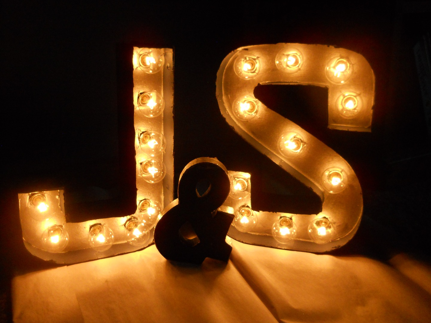 Picture of DIY Bride Guide: Marquee Letters