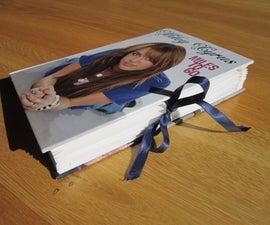 Hard back book folder