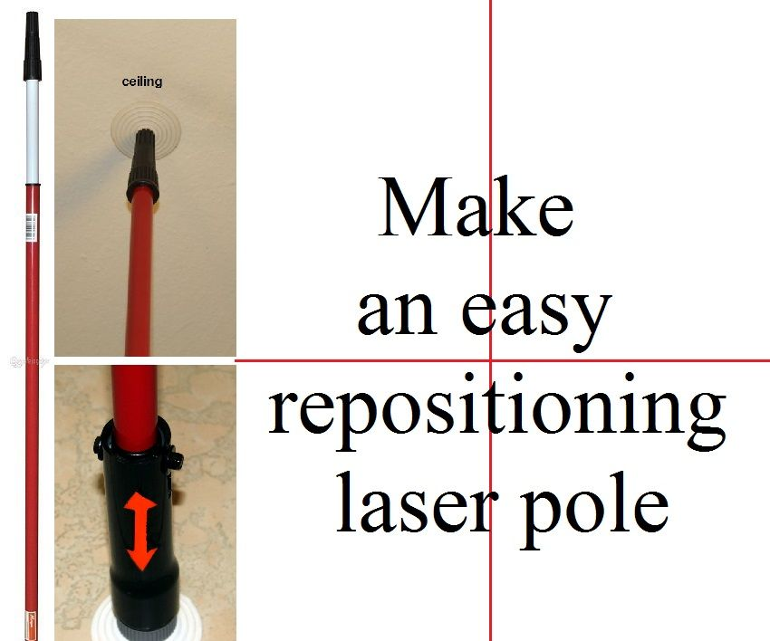 Make an Easy Repositioning Laser Pole: 4 Steps