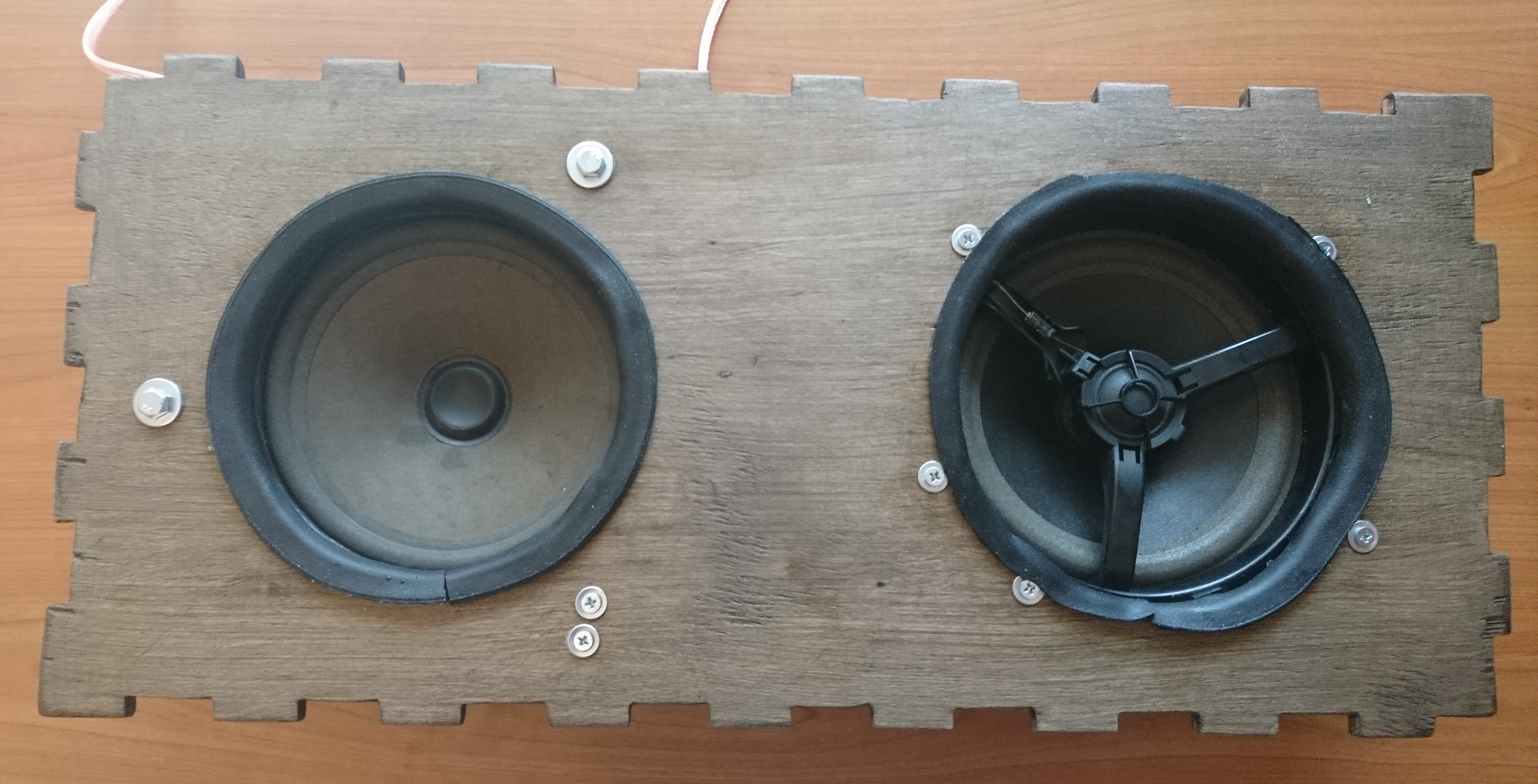 Picture of Making the Enclosure - Mounting the Main Speakers
