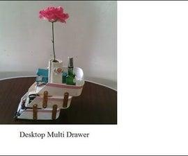 Desktop Multi Drawer