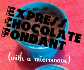 Express Chocolate Fondant with a microwave and the Microcake