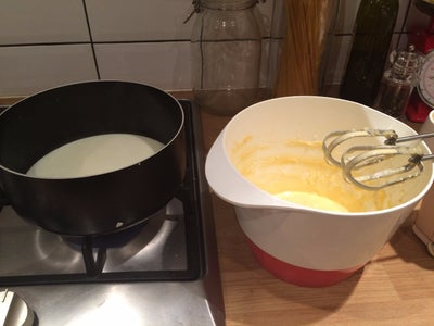 Making the Orange Custard Filling
