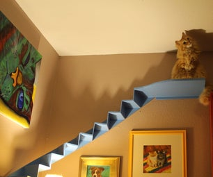 Curved Cat Stairs for Your Living Room