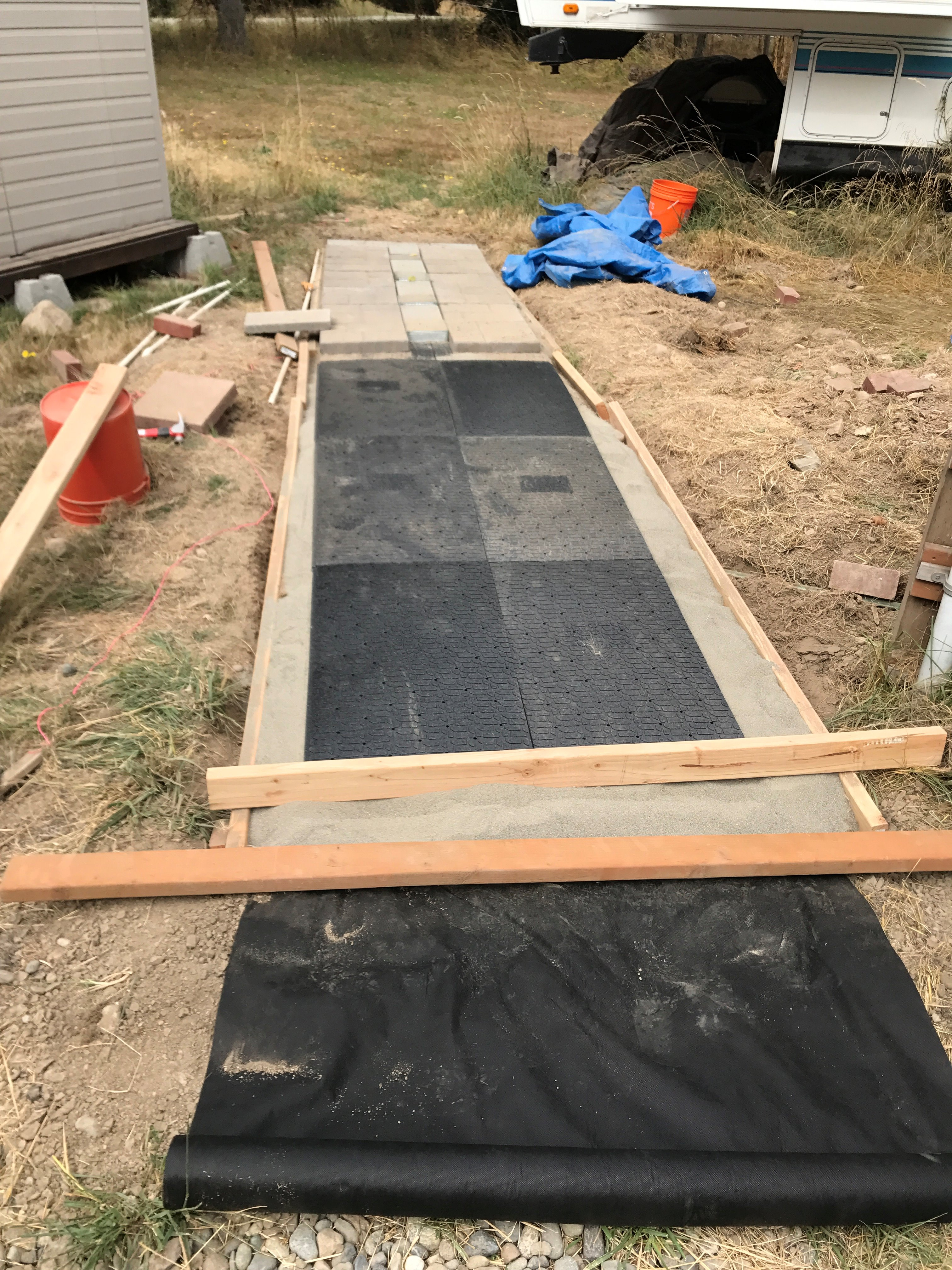 Picture of Basics of Making a Paver Based Pathway - Part 2 Layers