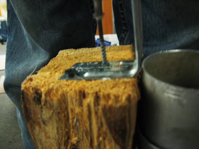 Picture of Add Brackets and Clamp Your Log
