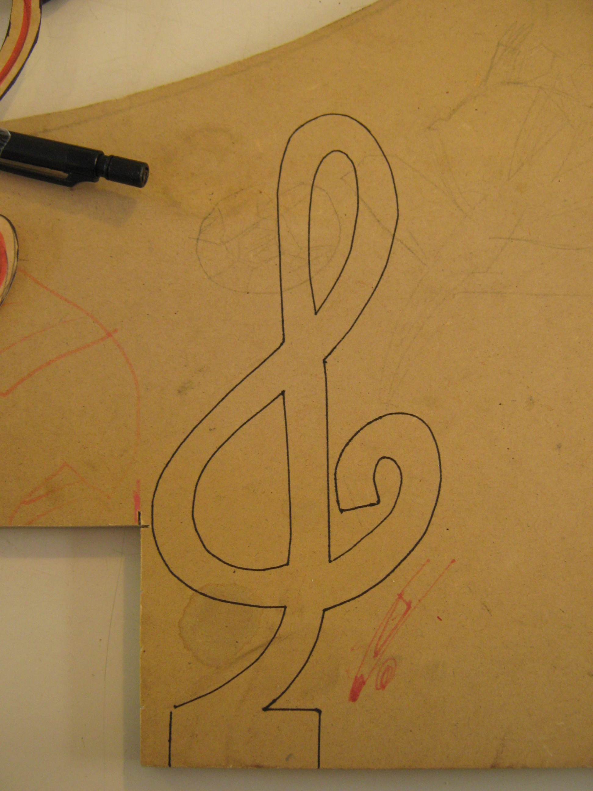 Picture of Trace the Template on the Mdf
