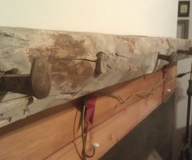 Old Beam Fireplace Mantle