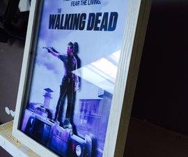 3D Effect Walking Dead poster