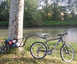 Single wheel bike trailer