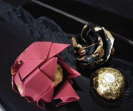 Origami Rose Ferrero Rocher Gift-Favors