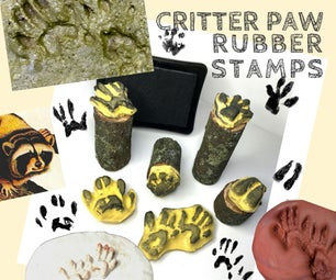 Critter Paw Print Rubber Stamps!
