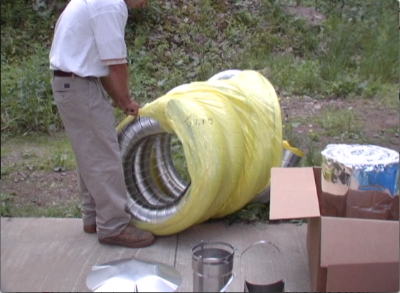 Picture of Remove All Chimney Liner Parts From Packaging