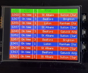 UK Train and Weather Display