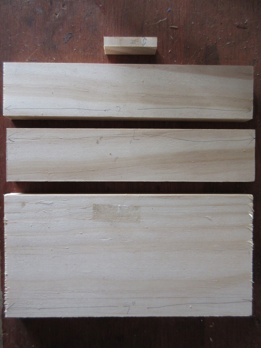Picture of Cut Wood Pieces to Length.