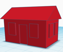 Tinkercad: How to make a simple 1 story house (For 3D printing)