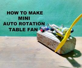 How to Make Mini Auto Rotation Table Fan