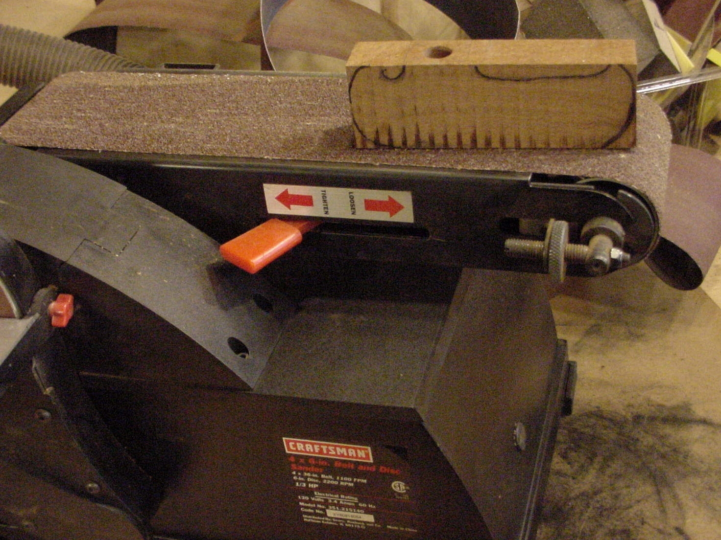 Picture of Cutting & Shaping the Handle.