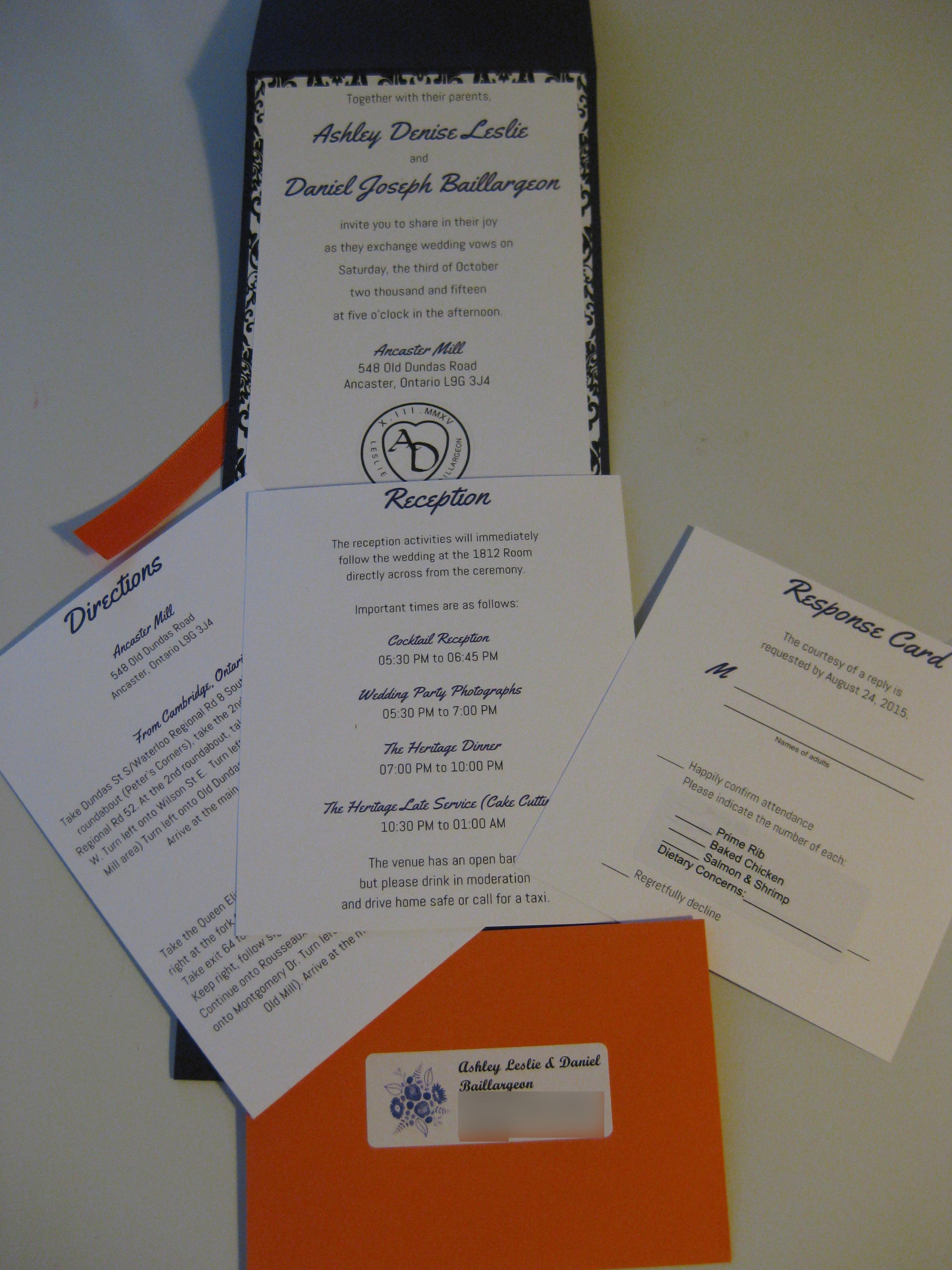 Picture of DIY Pocket Wedding Invitations