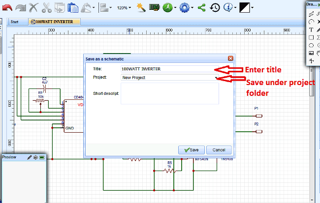 Picture of Drawing the Schematic Using EasyEDA: