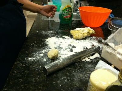 Rolling Dough and Cutting the Chips