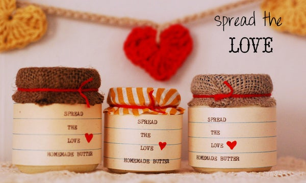 Let's Make Butter and SPREAD THE LOVE!  Now With Printable Pdf Label!