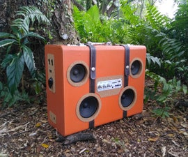 Portable Suitcase Boombox