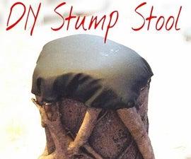 DIY Stump Stool