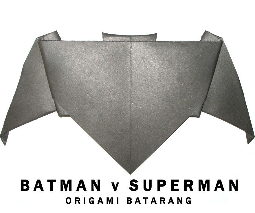 Batman V Superman Origami Batarang 14 Steps With Pictures