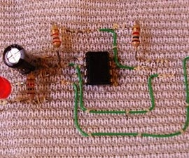 How to sew an electronic circuit
