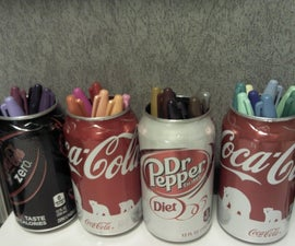 Use a soda can to hold markers (or other things...)