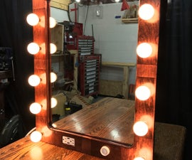 """Hollywood"" Style Lighted Vanity. 1st Instructable!"