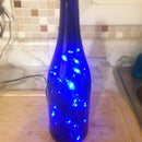 LED Wine Lamp - Simple to Make and Cool to Look at - No Drilling of Glass!