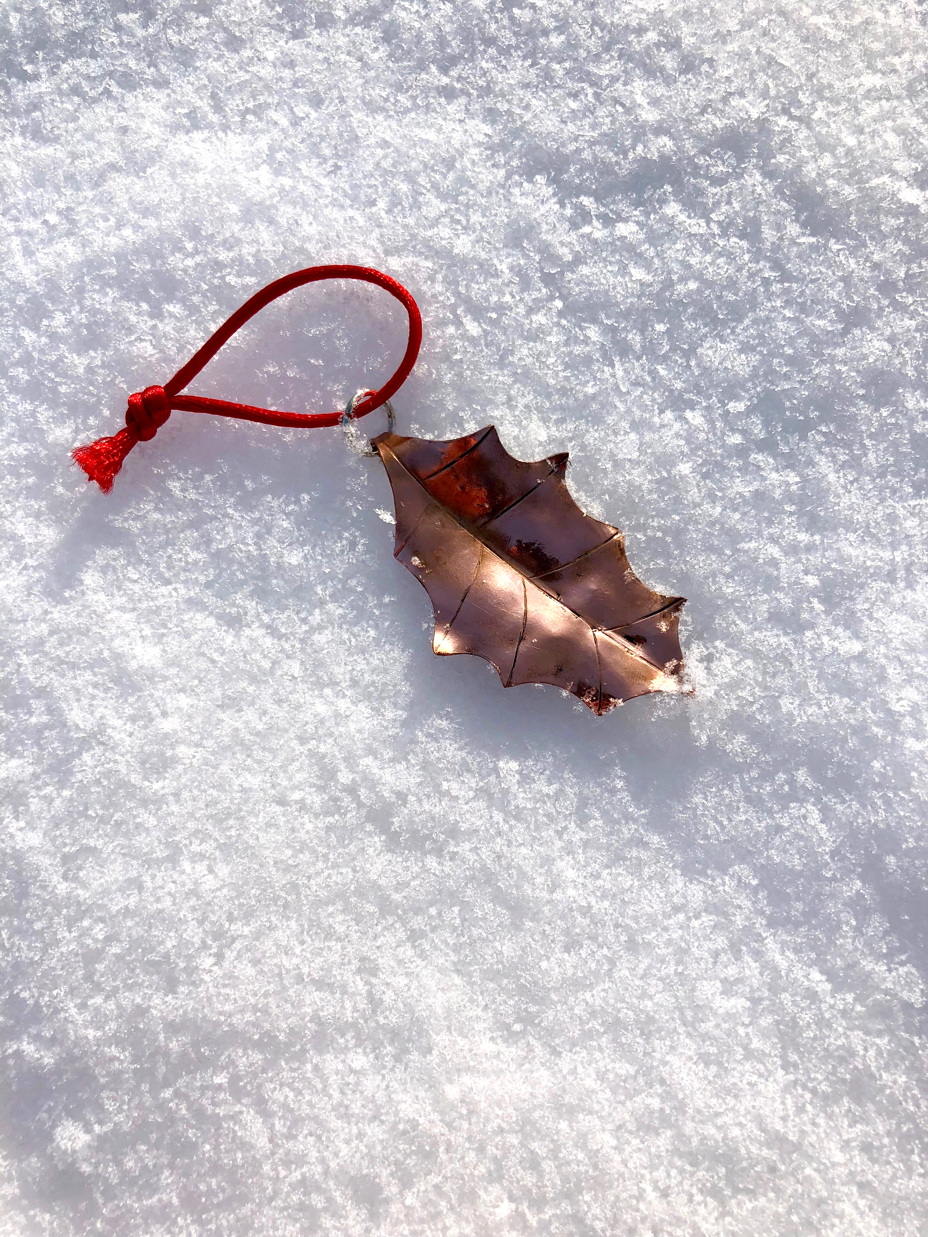 Picture of Make a Beautiful COPPER Holly Leaf Ornament!