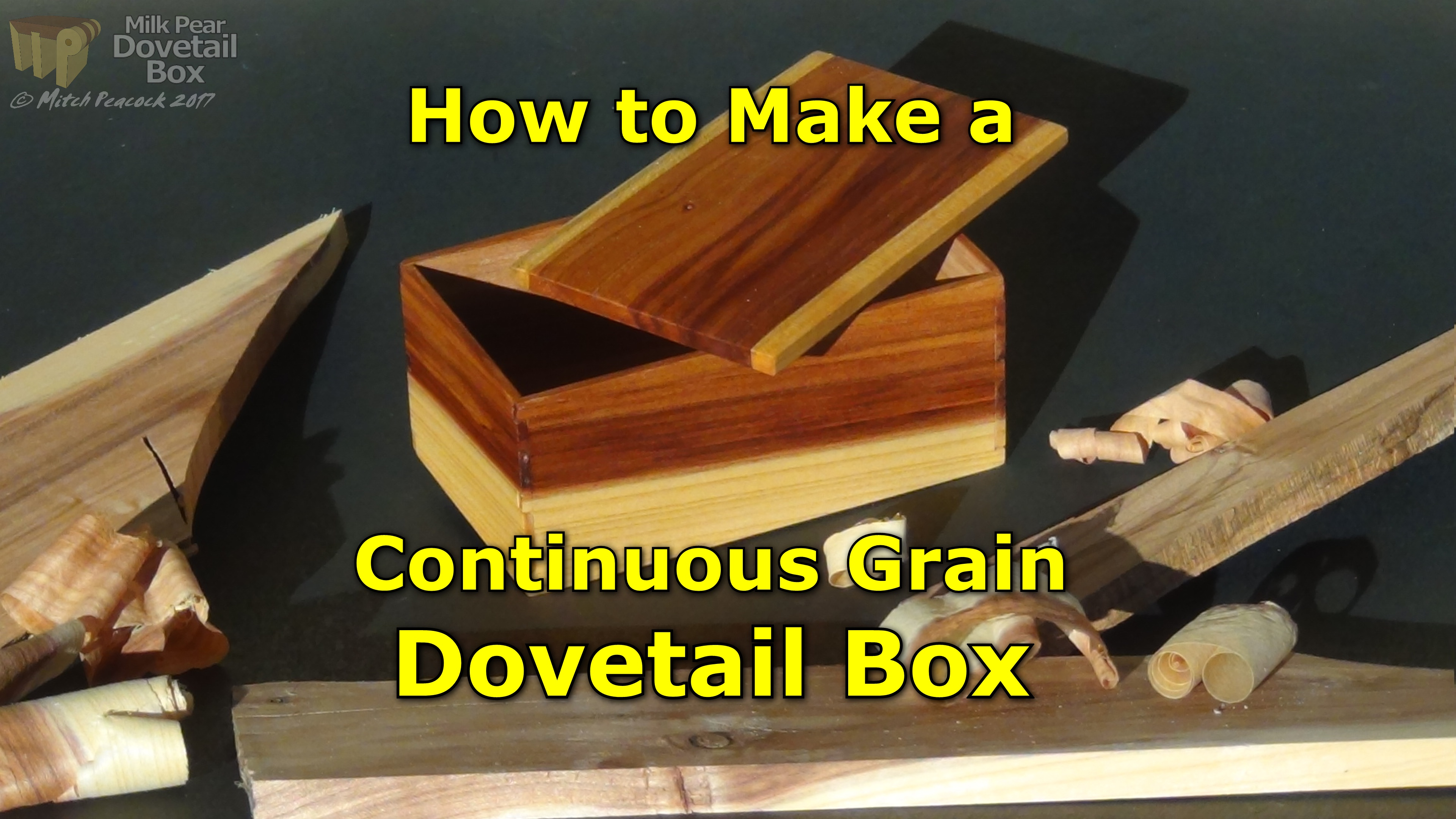 Picture of Continuous Grain Dovetail Box - a Great Gift Idea