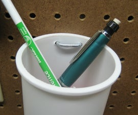 Pegboard Pencil Cup