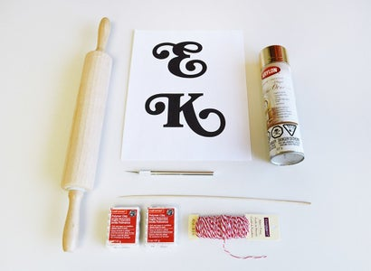 Clay Monogram Gift Tags