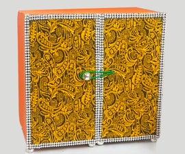 How to Make Handmade Cardboard Organizer Cum Jewelry Holder?