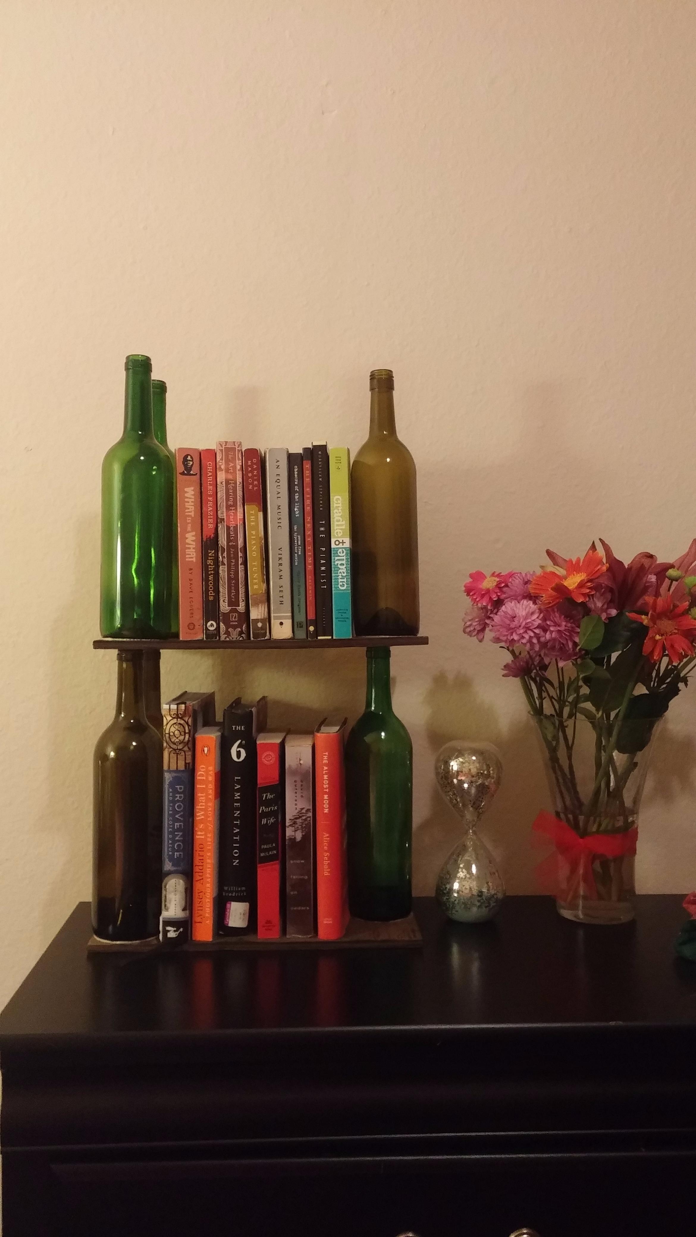 Picture of Wine Bottle Bookshelf