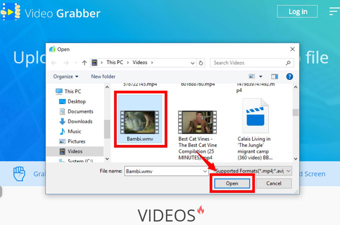 Picture of Import a Video File