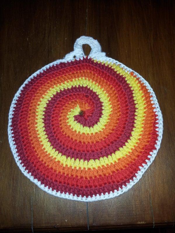Stir Me Up Potholder- First Ever Crochet Project