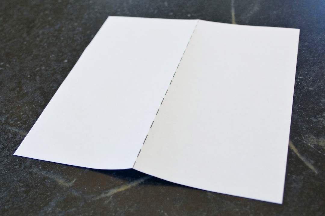 Picture of Crease Center and Fold Edges to Center