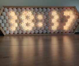 Ping Pong Ball LED Clock