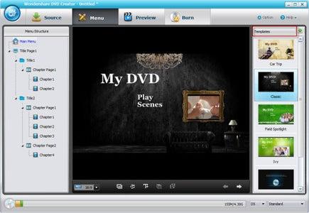 Customize With DVD Creator Templates
