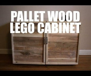 Pallet Wood LEGO Storage/Play Cabinet