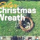Solar Powered Christmas Wreath