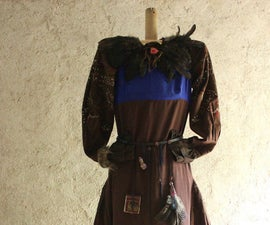 Refashioning project - boho chic, ethnic, romantic dress made from an old skirt and cheap shift dress